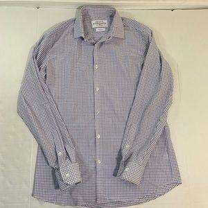 Mizzen And Main Plaid Button Front Shirt NWOT L